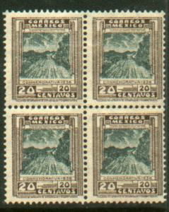 MEXICO 727, 20c Highway Inauguration Block of four MNH (30)