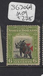 NORTH BORNEO (P1712B) 6C RHINO RED CROSS SG 206A  MOG