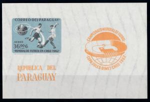 [69020] Paraguay 1962 World Cup Football Soccer Chile Imperf. Sheet MNH