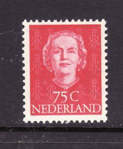 Netherlands-Sc#327-unused very light hinged 75c Queen Juliana-1949-