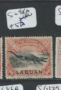 LABUAN  (PP2701B) CROCODILE 12C  SG 98A  VFU
