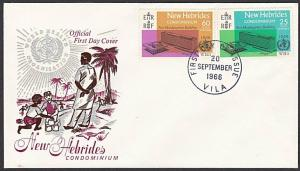 NEW HEBRIDES 1966 WHO commem FDC...........................................55226