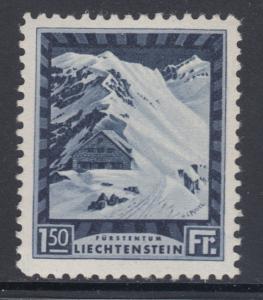 Liechtenstein Sc 106 MLH. 1930 1.50fr black violet Mountain Cottage, VLH, VF