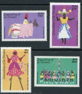 St. Vincent Grenadines Sc 510-3 Traditional Dances:Maypole, Bois-bois man,Donkey