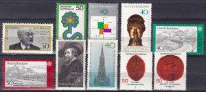 Germany #1244-53 MNH  CV $6.85 (Z7452)