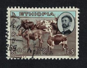 Ethiopia Cattle $1 canc SG#624