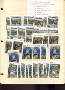 77 VINTAGE PIEDMONT ART FAIRY TALES POSTER STAMPS HOARD OFFERED INTACT (L1016)