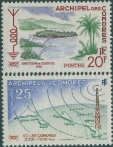 Comoro Islands 1960 SG21-22 Broadcasting Service set MNH