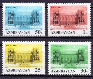 Azerbaijan. 1993. 107-10. Architecture. MNH.