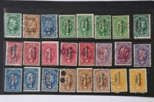 US IR Revenue Stamp lot 24 Color Study Variety Documentary RD12-RD17,54,57,58