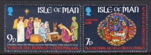 Isle of Man 205-206 Christmas MNH VF
