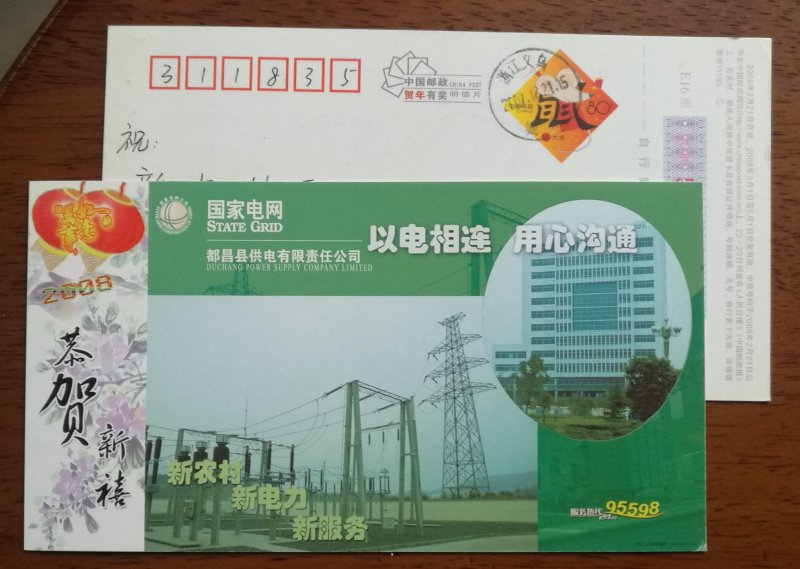 Transmission tower,transformer substation,CN08 duchang power supply company PSC