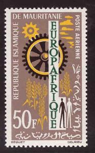 Mauritania Scott C28 MH* EuropAfrique stamp