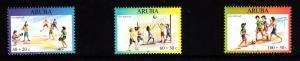 Aruba MNH Scott #B70-#B72 Set of 3 Children playing baseball, volleyball, soccer