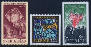 SWEDEN 1691-1693, Different commemorations. MNH