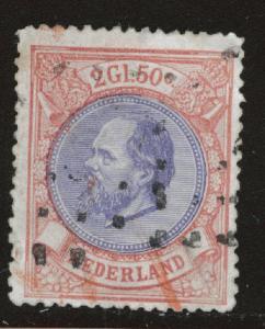 Netherlands Scott 33 used 2g50c from 1872-1888 set CV$105