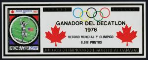 Nicaragua s/s MNH Olympic Games, Bruce Jenner, Sports