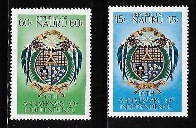 Nauru 1978 10th anniversary of independence Coat of Arms MNH A350