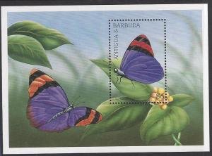 Barbuda #2047, mint SS, butterflies issued 1997