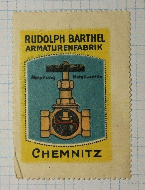 Barthel Fittings & Plumbing German Brand Poster Stamp Ads