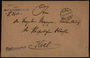 German WWI Turkey Navy MSP14 Fleet Command Feldpost Cover 62050