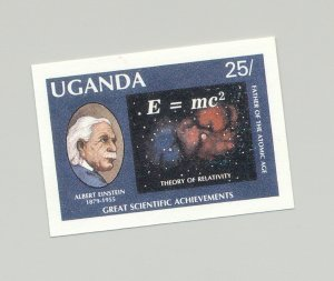 Uganda #565 Einstein, Science, Physics, Judaica 1v Imperf Proof