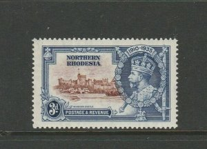 Northern Rhodesia 1935 Silver Jubilee 3d DIAGONAL LINE BY TURRET, LMM, SG 20f