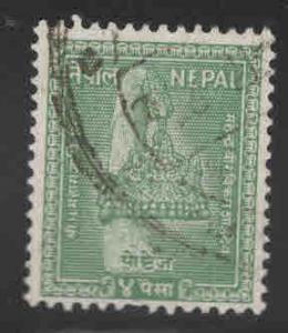 Nepal  Scott 91 Used stamp 1957