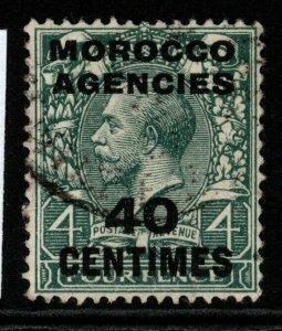 MOROCCO AGENCIES SG196 1917 40c on 4d SLATE-GREEN USED