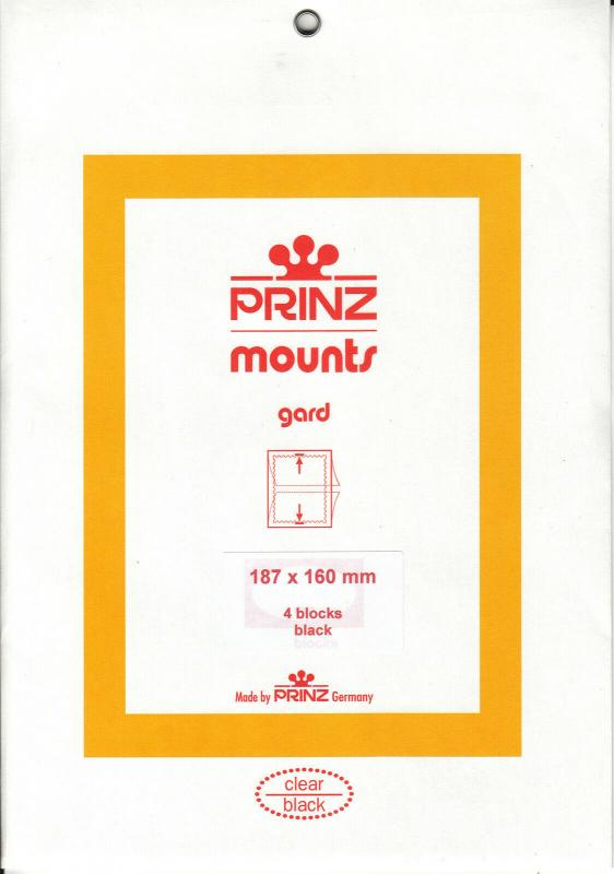 PRINZ BLACK MOUNTS 187X160 (4) RETAIL PRICE $10.50