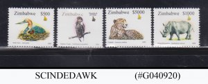 ZIMBABWE - 2003 BIRDS AND ANIMALS 4V MNH