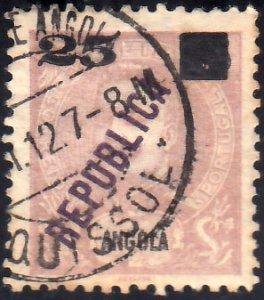 Angola Scott 117 Used.