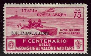 Italy Aegean Islands SC C34 Mint F-VF hr SCV$65.00...Grab a Bargain!