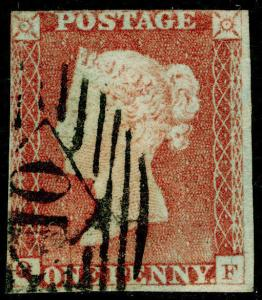 SG8, 1d red-brown PLATE 65, USED. Cat £30.