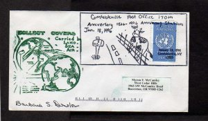 NY Constableville Post Office US PO 170th Anni New York Cover Autogrpahed