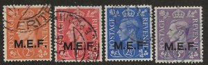 GREAT BRITAIN - MIDDLE EAST FORCES SC# 10-13  FVF/U 1943