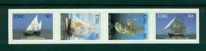 Ireland - Sc# 1145De. 1998 Tall Ships. Self Adhesives. MNH Strip. $8.00.
