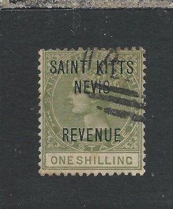 ST CHRISTOPHER REVENUE 1885 1s OLIVE GU SG R6 CAT £42