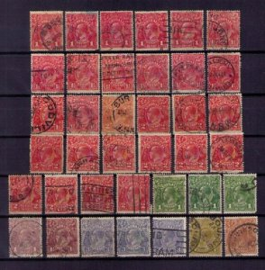 Australia  kgv lot With Duplicates (38 each ) F-VF