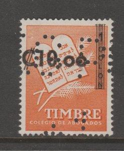 Costa Rica Cinderella Fiscal revenue stamp - TNX 5-31-89