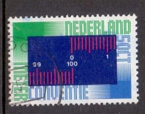 Netherlands 1975  used  meter convention    metric scale   #