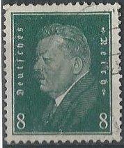 Germany 370 (used) 8p Friedrich Ebert, dk green (1928)