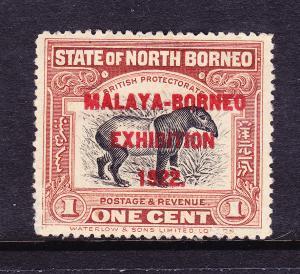 NORTH BORNEO  1922  1c MALAYA-BORNEO  EXHIBITION  MNG P14 1/2-15 SG 253f
