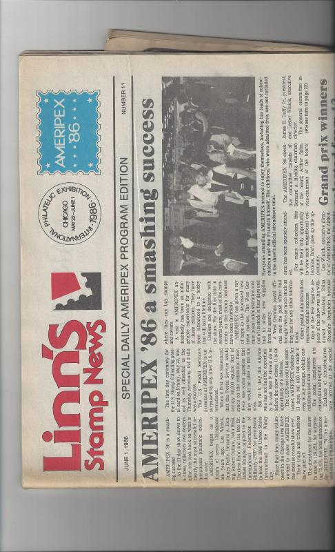 Linn's Stamp News, June 1, 1986. Special Daily Ameripex Edition