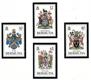 Bermuda 457-60 MNH 1984 Coats of Arms