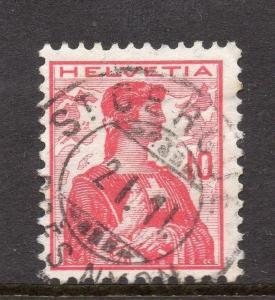 Switzerland Fine Postmark 1911 on 10c. 062043