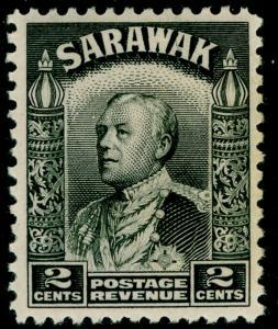 SARAWAK SG107a, 2c black, LH MINT.