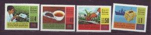 J23647 JLstamps 1967 ceylon set mnh #405-8 tea