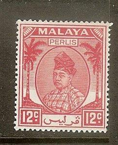 Malaya - Perlis, Scott #24, 12c Raja Syed Putra, MH