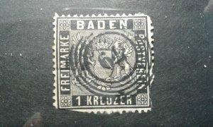 Germany-Baden #10 used 79 Lahr trimmed e202 6741